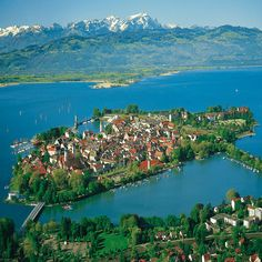 Lindau ~ Bavaria ~ Germany ~ It is a town and island on the eastern side of Lake Constance, the Bodensee.