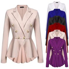 Women's Double Breasted Windbreaker Long Trench Coat Jacket Outwear Overcoat