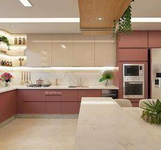 Kitchen Room Design, Kitchen Cabinet Design, Kitchen Sets, Interior Design Kitchen, Kitchen Decor, Kitchen Pantry Cabinets, Modern Kitchen Cabinets, Kitchen Furniture, Glamour Living Room