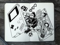 The Insides of a Game Boy doodle