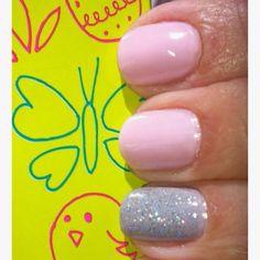 My Own Nails w/a Soft Easter Mani =) (essie~ Guchi Muchi Puchi)