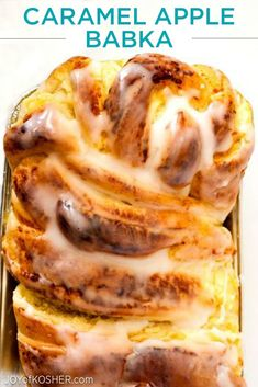Simply add a scoop of vanilla pareve ice cream to your Caramel Apple Babka and Shabbat dessert is ready!