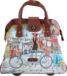 Nicole Lee Cheri Rolling Tote, Special Print Edition Bicycle - via eBags.com!