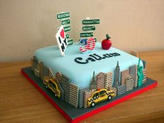 new york themed birthday cake