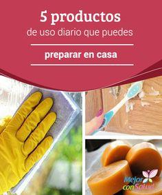 5 productos de uso diario que puedes preparar en casa Podemos evitar el uso de químicos tanto en la higiene personal como en la limpieza del hogar. Con dedicarle unos minutos a la mezcla de los ingredientes conseguiremos productos mucho más saludables