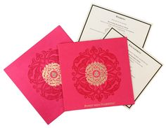 wedding card box in red and antique golden colour