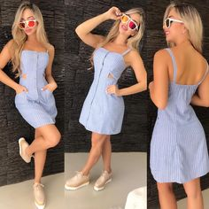 Best Prom Dresses 2019 (With images) Best Prom Dresses, Cute Dresses, Casual Dresses, Dresses Dresses, Trendy Outfits, Summer Outfits, Cute Outfits, Summer Dresses, Striped Short Dresses