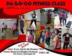 Da Go Go Fitness class tonight, Monday February 23 @ 7pm.