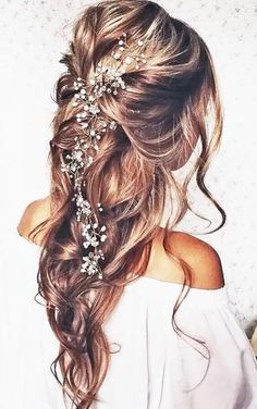 Down wedding hair