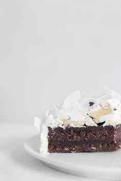 raw chocOlate coconut cream cake