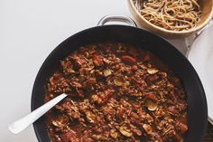 "Mushroom & walnut Spicy ""Bolognese"" Recipe on Yummly. Veggie Recipes, Vegetarian Recipes, Cooking Recipes, Healthy Recipes, Bolognese Recipe, Bolognese Sauce, Mushroom Bolognese, Vegan Bolognese, Vegan Pasta Sauce"
