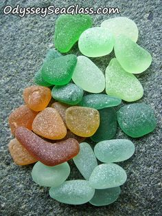 """SUNLIGHT - """"There is a sort of elation about sunlight on the upper part of *frosted sea glass*."""" ~ Edward Hopper, edited by Little Miss Quote. Exotic Colors of Sea Glass - Beach by OdysseySeaGlass, $15.95"""
