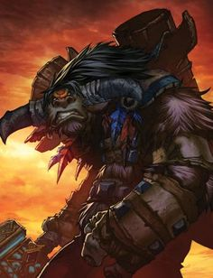 Baine Bloodhoof Tauren chieftain - World of Warcraft World Of Warcraft Movie, World Of Warcraft Characters, Baine Bloodhoof, Blood Elf, Warcraft Art, Heroes Of The Storm, Wow Art, Video Game Art, Video Games