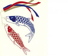Children's Day in Japan is  May 5.  Kodomo no hi! Show students how to make their own carp kite flag.