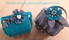 Handmade by Fanny: Felt Easter Basket with Big Shot and Stampin'Up! Berry Basket die