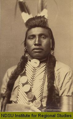 Chief White Bull, Sitting Bull's cousin-1849. He is thought to be the one who killed General Custer
