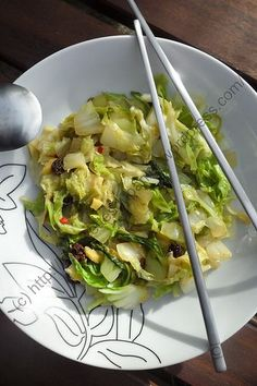 Pan-fried Chinese Cabbage with Asian / Asian Chinese Cabbage Pan - Cuisine - Raw Food Recipes Raw Food Recipes, Veggie Recipes, Lunch Recipes, Healthy Recipes, Easy Chinese Recipes, Asian Recipes, Thai Recipes, Chinese Cabbage, Chinese Food
