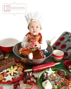 Will do this cute Christmas baby photo with my little on… Christmas baking photo. Will do this cute Christmas baby photo with my little one! (Taken at Lana Rawlinson Photography. Baby Christmas Photos, Xmas Photos, Family Christmas Cards, Holiday Pictures, Cute Photos, Christmas Baking, Christmas Cookies, Christmas Ideas, Kid Photos