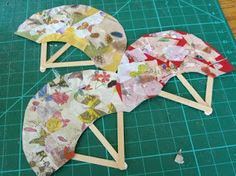 Beneath the Rowan Tree: A Simple Japanese Fan Craft & Origami, too Chinese New Year Crafts For Kids, Chinese Crafts, Art For Kids, Asian Crafts, Summer Camp Crafts, Camping Crafts, Crafts To Do, Arts And Crafts, Paper Crafts
