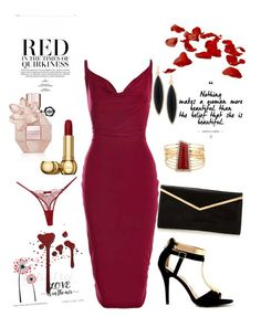 """""""Dame en rouge"""" by mejmiranda on Polyvore featuring Boohoo, GUESS and Maison Close"""