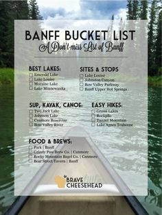 The Best of Banff, Banff Bucket List The Brave Little Cheesehead at bravelittlecheese. Voyage Usa, Voyage Canada, Vancouver British Columbia, Travel List, Travel Goals, Budget Travel, Alberta Canada, Banff Alberta, Calgary