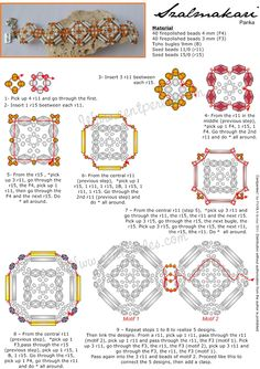 Beaded Bracelet PATTERN Panka   bugles square gorgeous  perla: Sralmakari