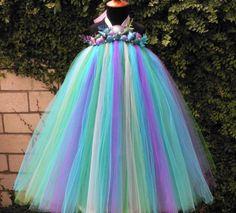 Aquamarine  Custom Sewn Mermaid Tutu Dress  real by TiarasTutus, $216.00