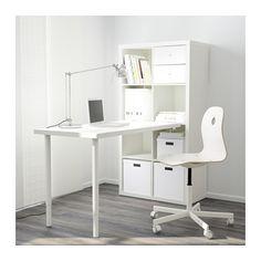 KALLAX Schreibtischkombination - Hochglanz/weiß - IKEA