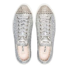 I'd love this spring: a pair of glitter sneakers from Miumiu