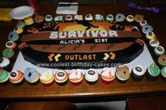 Coolest Survivor Theme Cake 6