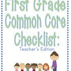 FINALLY! A cute, organized first grade common core checklist!