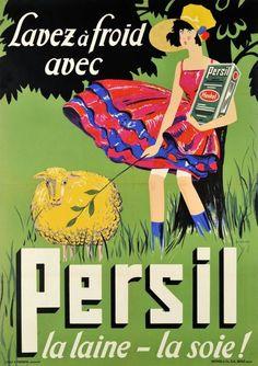 Vintage French Advertising Poster For Persil soap Like & Repin. Noelito Flow. Noel http://www.instagram.com/noelitoflow