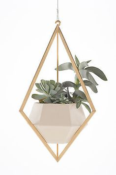 Tetra Planter by Light + Ladder : solid brass and ceramic