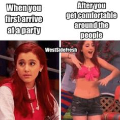 Haha, Ariana Grande, a.k.a. Cat on Victorious and also on Sam and Cat. :)