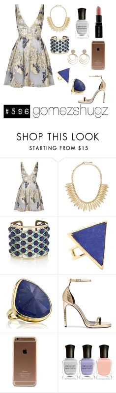 """gold, lilac, blue"" by gomezshugz ❤ liked on Polyvore featuring Notte by Marchesa, Jules Smith, Etro, OVS industry, Elizabeth and James, Monica Vinader, Yves Saint Laurent, Deborah Lippmann and Smashbox"