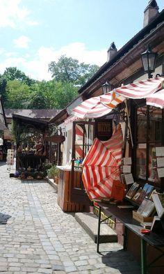 Specialty shops at handwerkerhof, crafts yard