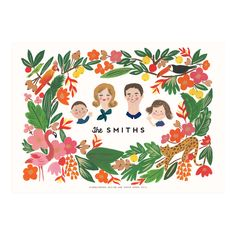 Custom Illustrated Tropical Forest Print - Family - Ayang Cempaka
