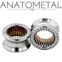 "3/4"" Bullet Eyelets in ASTM F-138 stainless steel w/bronze Bullet Inserts; CZ gemstones"