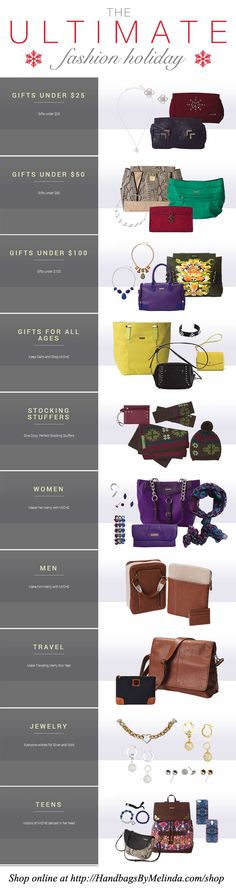Christmas is right around the corner and we've got you covered with our Ultimate Miche Holiday Gift Guide! #handbags #michefashion #gifts
