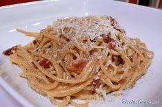 Receta de Espaguetis en salsa Alfredo - RecetasGratis.net
