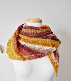 Women's Scarf  Triangle Scarf Mini Shawl Autumn Colors  by awkward, $98.00  So, in honor of spring, I give you this autumn-colored Scout scarf.