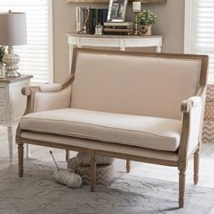 Found it at Wayfair - Baxton Studio Traditional French Loveseat