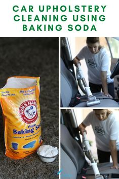 With this DIY cleaning hack, you'll be able to clean your car seats with baking soda. This all natural remedy will have stains, dirt, and dust up out of your auto seats in not time #homeviable #carcleaning #bakingsoda #allnatural #DIY Clean Cloth Car Seats, Cleaning Leather Car Seats, Cleaning Car Upholstery, Car Cleaning, Cleaning Hacks, All Natural Cleaning Products, Diy Cleaning Products, Cleaning Solutions, Vinegar Cleaning Solution