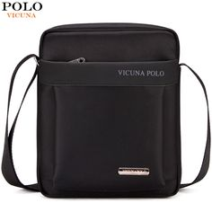 VICUNA POLO Durable Oxford Mens Crossbody Bag Promotion Casual Mens Shoulder  Bags Black Brown Leisure 18de325e91024