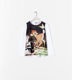 "Image 1 of ""BAMBI"" T-SHIRT from Zara"