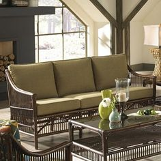 Panama Jack Bora Bora Sofa with Cushion Upholstery: Everglades Spice