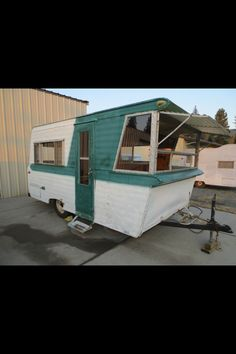 1964 Field and Stream travel trailer.