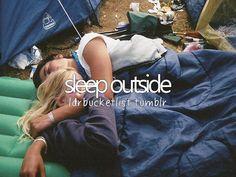 sleep outside #bucketlist #check