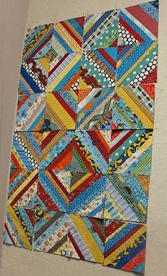 string quilts - good project to do with kids   free simple quilt square patterns   http://onlinequiltingclassesmembership.ning.com/
