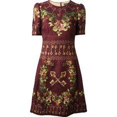 DOLCE & GABBANA floral brocade dress (€1.970) ❤ liked on Polyvore